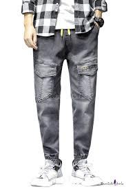 Men's Hot Fashion Letter <b>Embroidery</b> Detail Flap <b>Pocket Design</b> ...