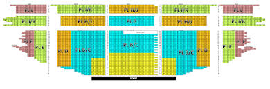 Pantages Theater Seating Chart With Seat Numbers Pantages
