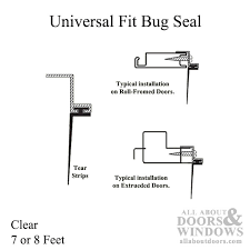 universal fit bug seal for sliding screen door 7 or 8 feet clear