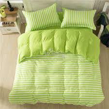 2016 bedding set apple green striped queen full twin size bed quilt cover set linen comfortable duvet covet set 3pcs aliexpress