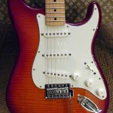 deluxe powerhouse strat owners club fender stratocaster guitar forum flame aged cherry burst