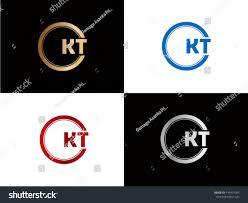 Kt Design Kt Logo Letter Design Vector Red Stock Vector Royalty Free