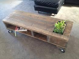 Planter coffee table Concrete Diy Pallet Coffee Table With Planter And Wheels 101 Pallets Diy Industrial Pallet Coffee Table With Planter 101 Pallets