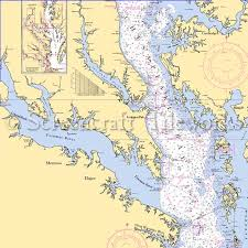 Potomac River Charts Maryland Potomac River Md Va Nautical Chart Decor
