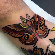 A Pink Ink Tattoos Moth Tattoo Traditional Butterfly Tattoo