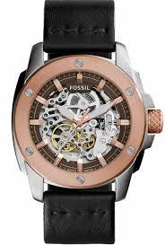 men s fossil machine automatic steel watch me3082