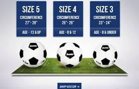 Ball Size Chart Soccer Ball Sizes Official Football Size Chart