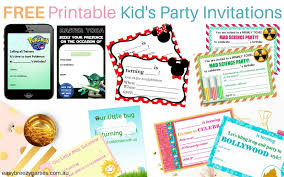 Printable Kids 10 Free Printable Party Invitations For Kids Easy Breezy Parties