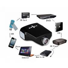 tv projector hd. home theater, tv \u0026 video \u203a projectors - hd led projector 10 100 inch dvd pc with sd usb av in vga hdmi port tv hd i