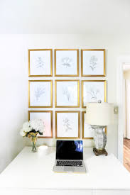 Neutral Botanical Prints. DIY Botanical Prints. Gallery Wall Layout