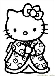 Small Picture Sleepy Hello Kitty Free Coloring Page Hello Kitty Kids Coloring