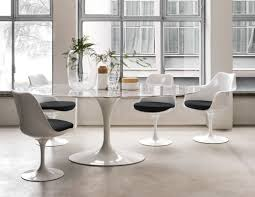 ... Tulip Chair, Saarinen Dining Table  dining area dining room classics  knollstudio residential residence home coverings marble ...