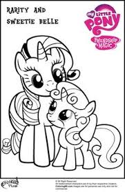 Small Picture my little pony coloring pages My Little Pony Rarity Coloring