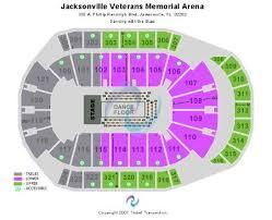 Jacksonville Veterans Memorial Arena Seating Chart Hockey 53 Organized Seating Chart For Veterans Memorial Arena