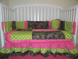 illuminated hot pink camo crib bedding set baby