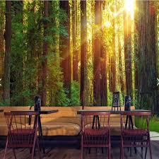 3d Muurschildering Foto Behang Natuur Groene Boom Voor Woonkamer Tv