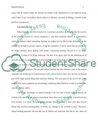 ethical hacking research paper example topics and well written  ethical hacking essay example