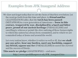 rhetorical analysis of speeches ppt examples from jfk inaugural address