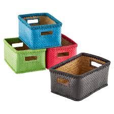 ... Storage Ideas, Charming Woven Storage Baskets Storage Baskets For Shelves  Small Palm Leaf Woven Storage ...