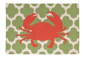 revolutionary crab rug blue indoor or outdoor magnolia blvd