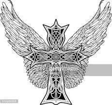 Kříž V Keltském Stylu S Velkými Křídly Premium Clipart Clipartlogocom