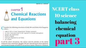 ncert class 10 science chapter 1 chemical reaction and equation part 3