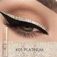 amazon focallure makeup glitter eyeliner eyeshadow for easy to wear waterproof liquid eyeliner beauty eye liner platinum beauty