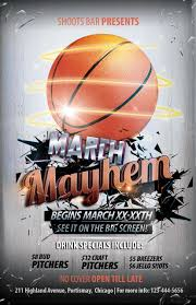 March Madness Flyer The Madness Begins Free 5 Basketball Flyers In Psd For The Big