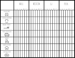 Kids Chore Chart Free Printable Bower Power