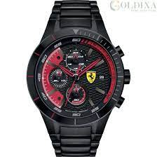 Watches Watch Scuderia Ferrari Chronograph Men S Analog Steel Strap Collection Red Fer0830264