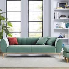 modern green velvet upholstered sofa 3