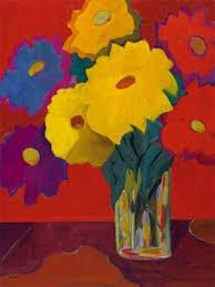 Amazon.com: Audrey Heard - November Zinnias II Art Print NO LONGER ...