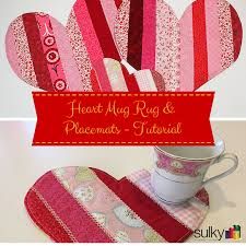 heart mug rug placemats