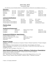 Curriculum Vitae Sample For Physician Assistant Valid Physician Cv