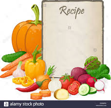 Recipe Blank Template Recipe Card Kitchen Note Blank Template Vector Illustration