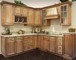 Kitchen Cabinets Upper Kitchen Light Brown Thomasville Kitchen Cabinet With White Marble
