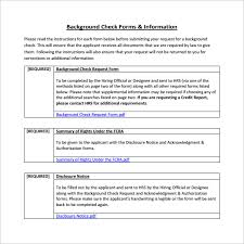 8 Sample Background Check Forms To Download | Sample Templates