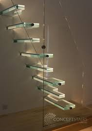 horringer straight flight glass cantilever staircase bespoke glass staircase