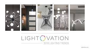 lightovation lighting trends 2018