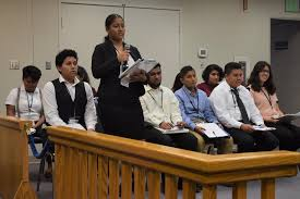 Teen court service for first