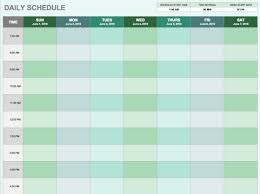 daily hourly calendar free daily schedule templates for excel smartsheet