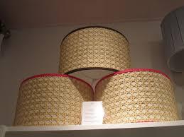 marvelous linen drum shade gingham plastic matting round drum