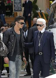 karl lagerfeld and baptiste giabiconi photos photos karl lagerfeld s a chanel commercial zimbio