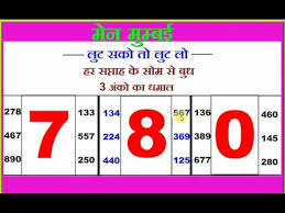 New Worli Chart Main Mumbai Monday To Wensday 3 Ank Lifetime Chart Youtube