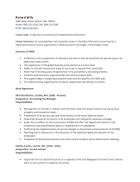 Example Accounting Resume Resume For Accounting Resume Templates