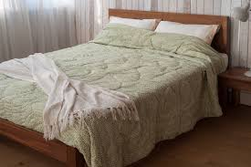 cover ebony reversible sage green quilt
