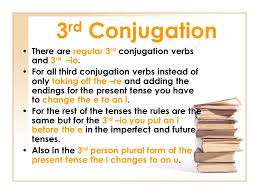 Latin 3rd Conjugation Chart Conjugations Of Latin Verbs Ppt Video Online Download