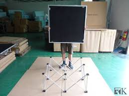 Collapsible Riser Portable Display Stand Plans Custom One People Can Setup One Plan By RK Stage