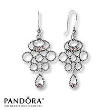 pandora earrings rhodolite garnet sterling silver