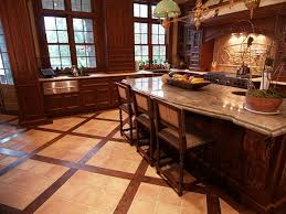 Terracotta Kitchen Floor Traditional Kitchen With Glass Panel By Anna Marie Fanelli
